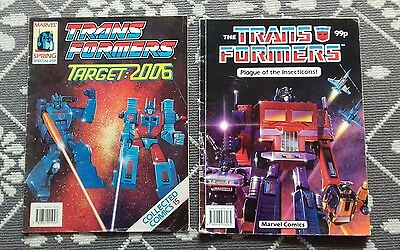2 Transformers Marvel Comics Plague Of The Insecticons + Target 2006