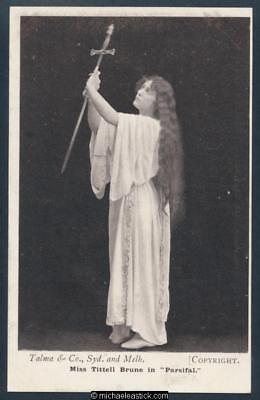 Glamour black & white postcard of Miss Tittell Brune 1875 - 1974 in Parsifal.