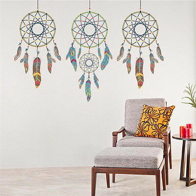 DIY Dream Catcher Feathers Wall Stickers Mural Art Vinyl Wall Decals Home Decor