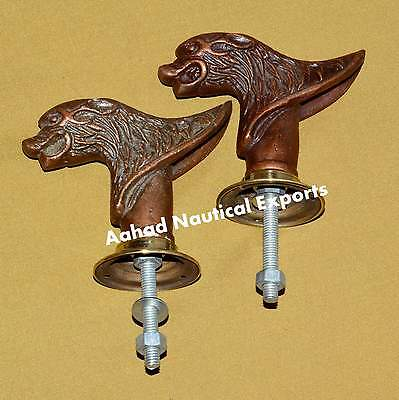 Set 2 pcs Vintage Solid Metal Big Lion  Retro Entry Door Handle