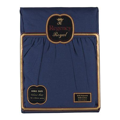 Regency Royal - Lenzuolo Valance, 2 pezzi, per letto king, blu navy, King (b0R)