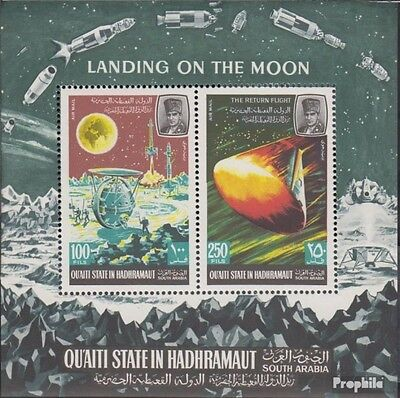 Aden - Qu´AITI State block9a unmounted mint / never hinged 1967 lunar-space rese