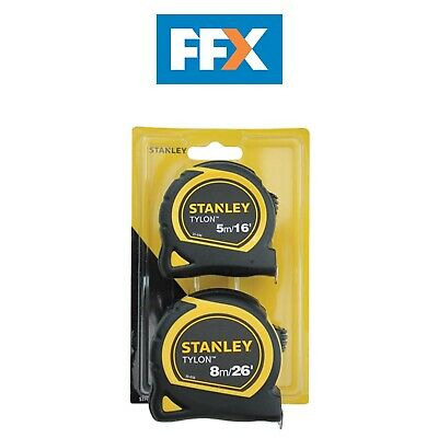 Stanley STA998985 Tylon Tape Twin Pack 5m/16ft and 8m/26ft