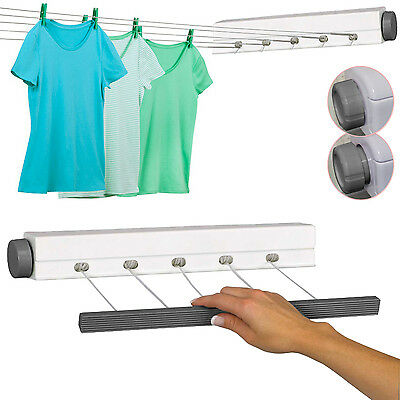 21M Heavy Duty Retractable Outdoor 5 Line Clothes Laundry Drying Line Indoor New