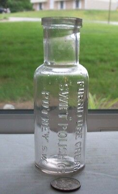 Victorian Bottle Embossed, Furniture Cream Swift Polish Co Putney Sw