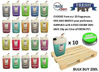 10 x 20L FRESH PET Kennel Disinfectant, Cleaner, Deodoriser - MIX & MATCH