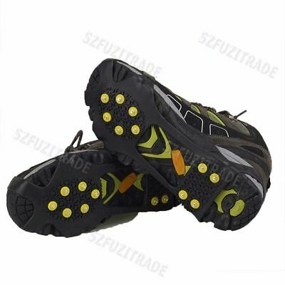 Anti-Slip Outdoor Travel Climbing Ice Snow Shoes Spike Grip Boots Chain Crampons