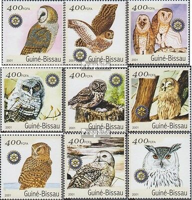 Guinea-Bissau 1437-1445 unmounted mint / never hinged 2001 Birds