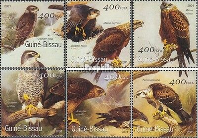 Guinea-Bissau 1452-1457 unmounted mint / never hinged 2001 Birds
