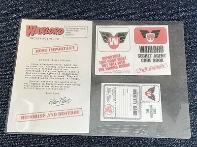 Vintage Warlord Comic Members Letter Secret Agent Code Book & I.d Card Repro