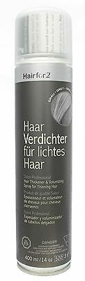 Hairfor2 capelli spray ispessimento grigio, 1 Pack (1 x 400 G) (R4D)