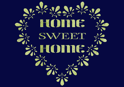 Home Sweet Home Antler Heart Stencil Reusable Stencils for Painting Create DIY Home Sweet Home Antler Heart Home Decor