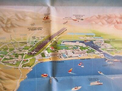 A TOURISM MAP OF EILAT, PUBLISHED  BY  MILTOUR, ISRAEL, 80's.