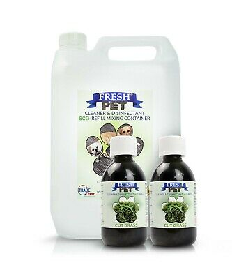 2 x 5L FRESH PET URINE SMELL ODOUR REMOVER - Cut Grass Fragrance - TRADE Chem