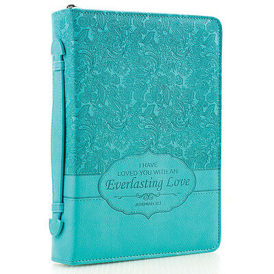 Everlasting Love Bible Cover, Turquoise, Large