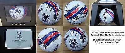 2016-17 Crystal Palace Official Football Squad Signed with Official COA (10584)