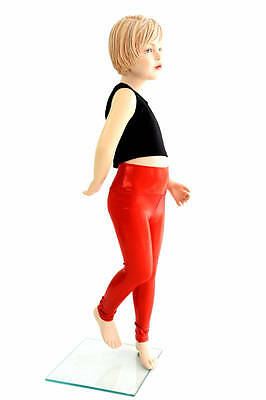 Kids 10 Red Sparkly Jewel Rockstar Costume Dress Up Leggings Rave Ready to Ship!