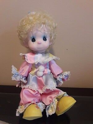 """Precious Moments Doll """"happiness Lord Taffy Clown 16"""" + Stand  Doll Rare"""