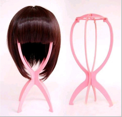 Wig Hair Display Stand Mannequin Head Hat Cap Hair Holder Foldable 4 Cls Tool