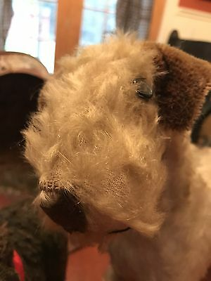 Antique Mohair Airedale Terrier Dog