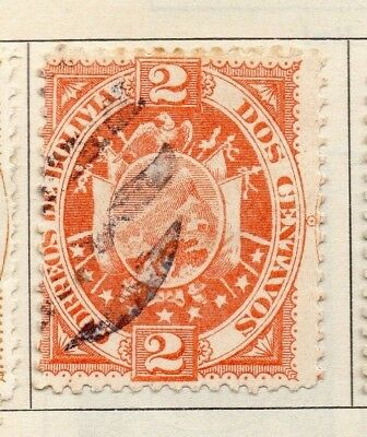 Bolivia 1894 Early Issue Fine Used 2c. 157618