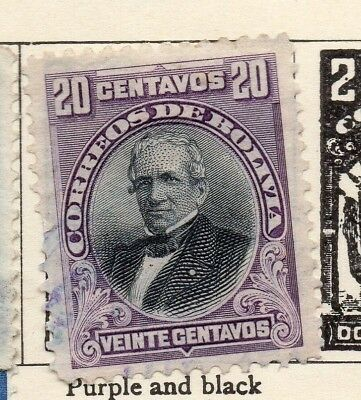 Bolivia 1901-04 Early Issue Fine Used 20c. 157635