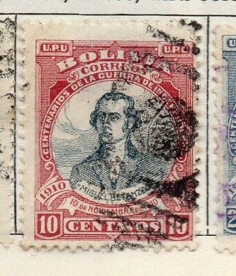 Bolivia 1909 Early Issue Fine Used 10c. 157641