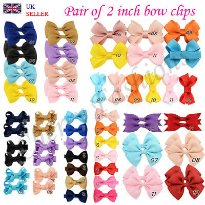 Cute Small Baby Girls kids Bow Clips Ribbon Handmade Hair Clip Elastic Bobbles