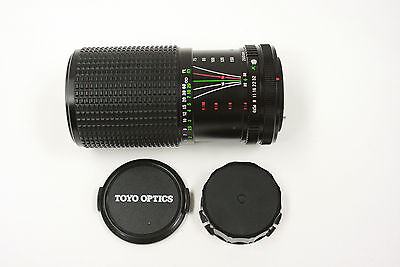 Toyo Five Star 75-200mm f4.5 macro manual focus zoom lens w/Canon FD mt. w/caps