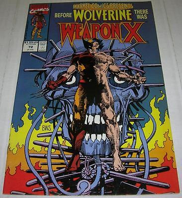 MARVEL COMICS PRESENTS #72 (1991) WEAPON-X story begins (VF-) WOLVERINE origin