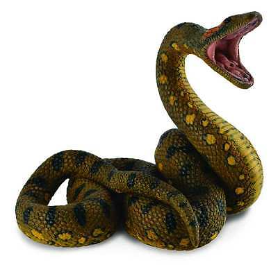 CollectA Wildlife Green Anaconda Snake Toy Figure - Authentic Hand Painted Model