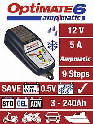 OPTIMATE 6 AmpMatic Motorcycle Battery Charger with SAE Connection 12V