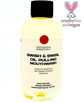 100ml Coconut Oil Pulling Mouthwash with Orange Essential Oil *10 day supply