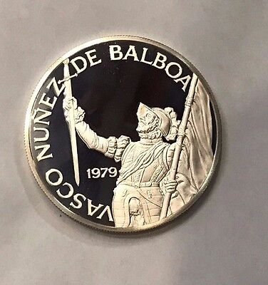 1979 Panama 20 Balboas Proof Sterling Silver Coin