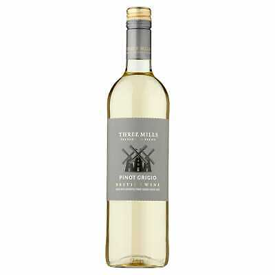 Three Mills British Pinot Grigio White Wine - 6x75cl