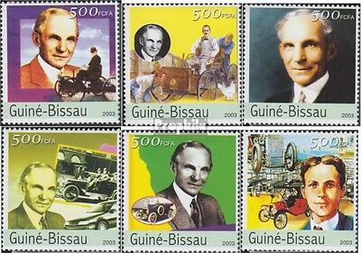 Guinea-Bissau 2503-2508 unmounted mint / never hinged 2003 Henry Ford