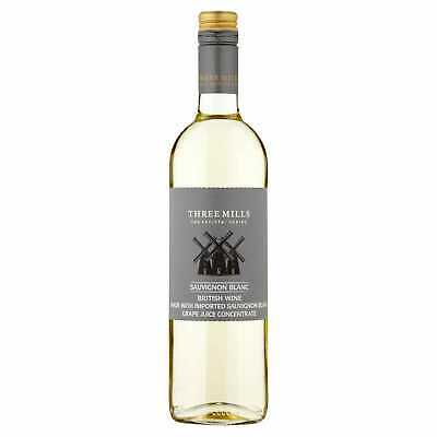 Three Mills British Sauvignon Blanc White Wine - 6x75cl