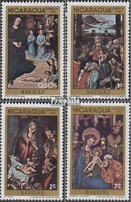 Nicaragua 2466-2469 unmounted mint / never hinged 1983 christmas: Paintings