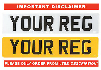 Replacement Car Number Plate/s, Custom Show Plate/s, Registration Plate/s