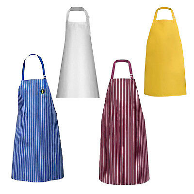 Heavy Duty Waterproof Chef Apron Kitchen Butcher Cooking BBQ Catering Unisex UK
