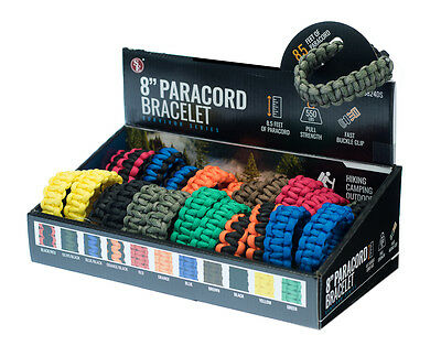 """8"""" Paracord Survival Bracelet Assorted Colors ~ Camping Military Tactical NEW"""