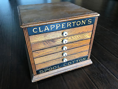 Clapperton's Wood Five Drawer Spool Cabinet
