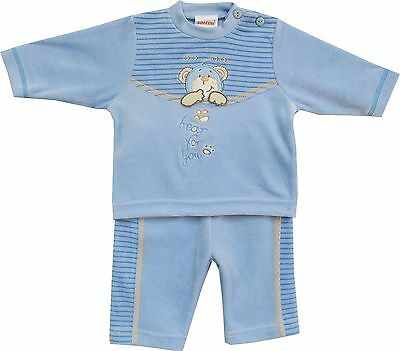 (TG. 80) Schnizler Bear for You, Completo Unisex - Bimbi 0-24, Blu, 80 (K9Q)