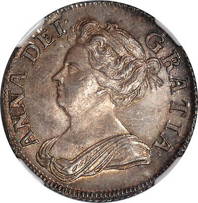 Great Britain 1708 Anne Shilling NGC MS-63. A splendid example!!!