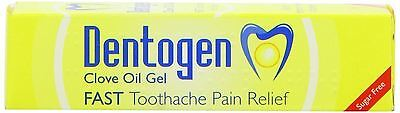 Dentogen Clove Oil Gel Fast Toothache Pain Relief Sugar Free 10g 1 2 3 6 Packs