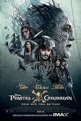 Pirates Of The Caribbean Dead Men Tell No Tales Imax Poster A4 A3 A2 A1 Cinema