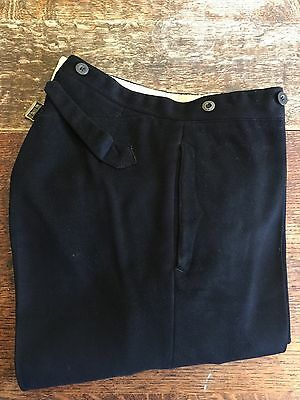 Vintage Antique Black Frock Coat Trousers Size 32