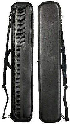 Lucasi LC748B 4x8 Black Hard Case - Holds 4 Complete Cues w/4 Xtra Shaft