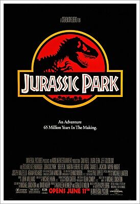 Jurassic Park Poster A4 A3 A2 A1 Cinema Movie Large Format Art Design