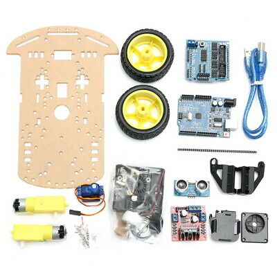 2WD Avoidance Tracking Smart Robot Car Chassis Kit With Speed Encoder Ultrasonic